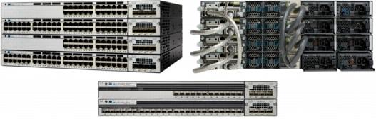 Cisco Catalyst 3750-X 系列交换机(正面)