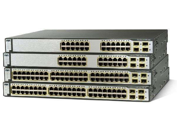 The Cisco 3750G range, originally at http://www.cisco.com