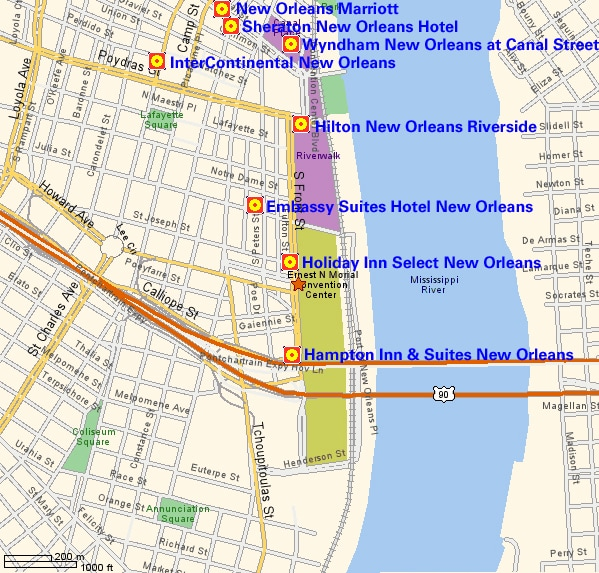 To View A Map Of New Orleans Which Highlights The Networkers Hotel Locations And Convention Center Please Click Here