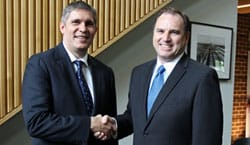 Mr Andrew Thomson (Director of Sales and Business Development � Public Sector Cisco Australia and New Zealand) and Braith Williams (Chairman of College Council)