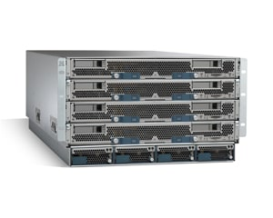 Cisco Unified Computing System 5108 with 8 UCS B-Series blades