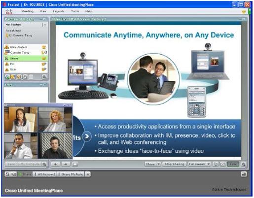 语音、视频和Web协作会议