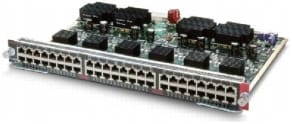 図 15 WS-X4548-RJ45V+ Cisco Catalyst 4500 48 ポート 802.3af PoE および 802.3at PoEP 10/100/1000(RJ-45)