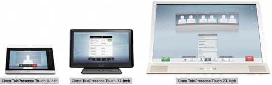 図 1. Cisco TelePresence Touch