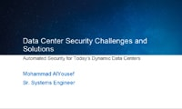 Data Center Security Challenges and Solutions