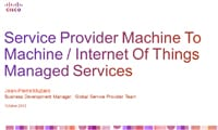 Service Provider Machite to machine / Internet of Things Managed Services