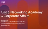 Cisco Networking Academy in Corporate Affairs