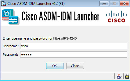 IDM login launch screen