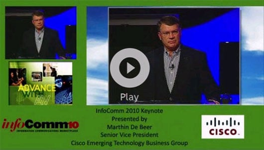 InfoComm10 Keynote address by Marthin De Beer