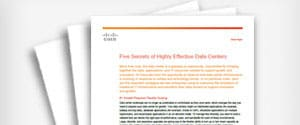 White Paper: Five Secrets to Achieving a Highly Effective Data Center