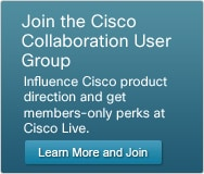 Join the Cisco Collaboration User Group