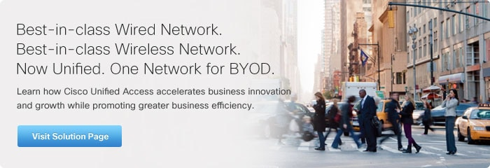 Best Wire Network, Best Wireless Network, Now Unified. One Network for BYOD.  Visit Solution Page